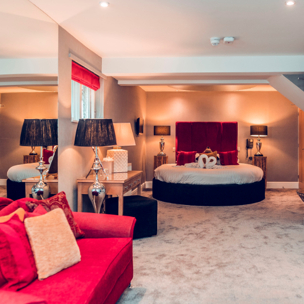 Love Suite and Hot Tub, Aphrodites Boutique Spa Suites and hot tub spa breaks in Bowness on Windermere within the Lake District.