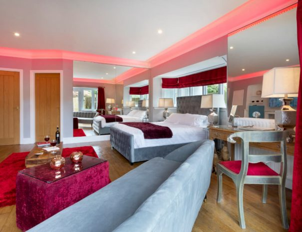 Red Rose Suite & Hot Tub Luxury Bed and Breakfast in Bowness on Windermere, Windermere Spa Suites with Hot Tub