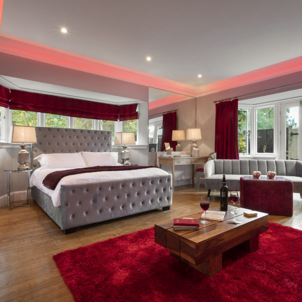 Red Rose Suite & Hot Tub, Aphrodites Boutique Spa Suites and hot tub spa breaks in Bowness on Windermere within the Lake District.