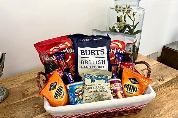 Snack Hamper, Luxury Bed and Breakfast in Bowness on Windermere, Windermere Spa Suites with Hot Tub