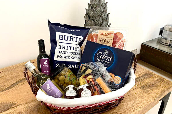 Cheese and Meat Hamper, Luxury Bed and Breakfast in Bowness on Windermere, Windermere Spa Suites with Hot Tub